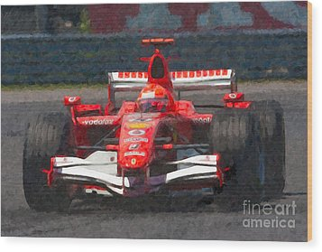 Michael Schumacher Canadian Grand Prix I Wood Print by Clarence Holmes