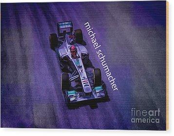 Michael Schumacher Wood Print by Marvin Spates