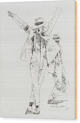 Michael Smooth Criminal Wood Print by David Lloyd Glover