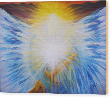 Michael -the Vision - Michael Archangel Series By Yesi Casanova Wood Print