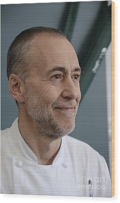 Michel Roux Jr. Wood Print by CandyAppleRed Images