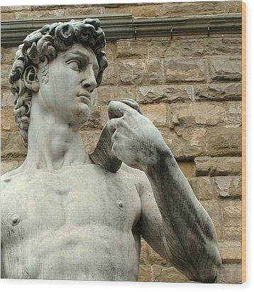 Michelangelo's David 1 Wood Print