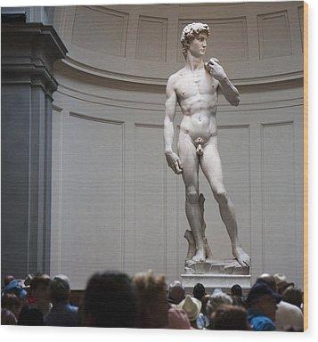 Michelangelo's David Wood Print