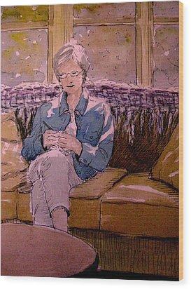 Michele's Mom Wood Print by Gretchen Allen