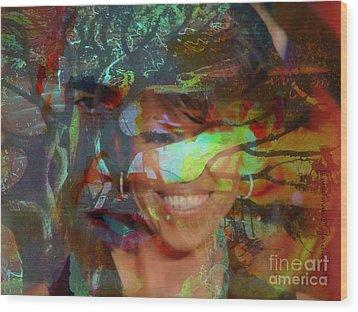 Michelle Barack And Baobab Wood Print by Fania Simon