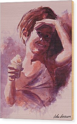 Wood Print featuring the painting Michelle by John  Svenson
