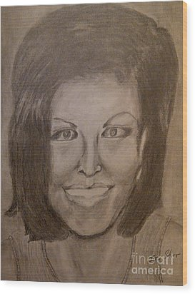 Michelle Obama Wood Print by Irving Starr