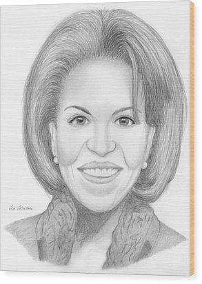 Michelle Obama Wood Print by M Valeriano