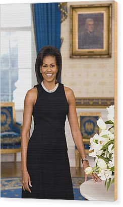Michelle Obama Wood Print by Official White House Photo