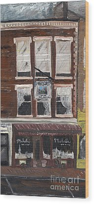 Michelle's On Market Square Wood Print