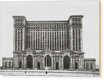 Michigan Central Station Wood Print
