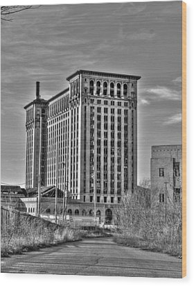 Michigan Central Station Wood Print by Nicholas  Grunas