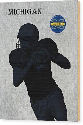 Michigan Football  Wood Print by David Dehner