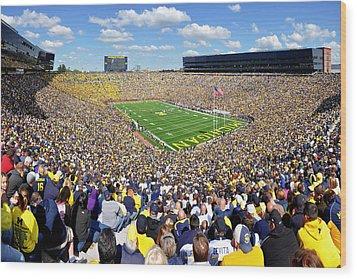 Michigan Stadium - Wolverines Wood Print