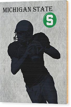 Michigan State Football Wood Print by David Dehner