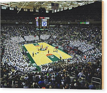 Michigan State Spartans Jack Breslin Student Events Center Wood Print