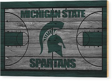 Michigan State Spartans Wood Print by Joe Hamilton