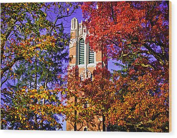 Michigan State University Beaumont Tower Wood Print