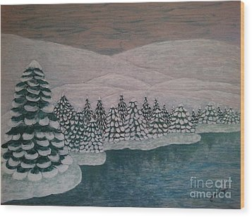 Michigan Winter Wood Print by Jasna Gopic