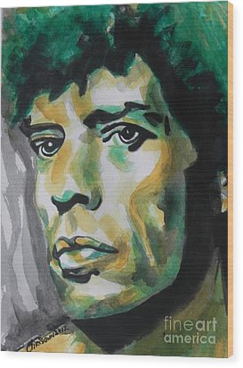 Mick Jagger Wood Print by Chrisann Ellis