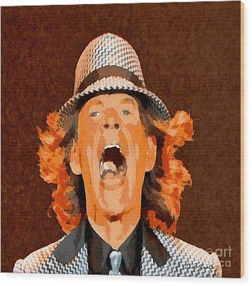 Mick Jagger Wood Print by Elizabeth Coats