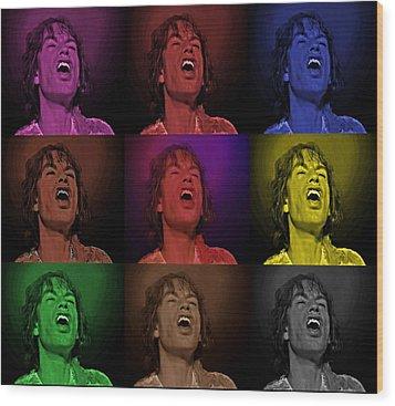 Mick Jagger Pop Art Print Wood Print