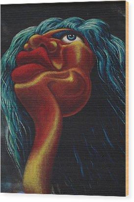 Mick Jagger's Image Wood Print by Genio GgXpress