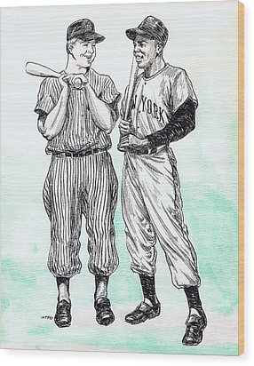 Mickey And Willie Wood Print by Mel Thompson