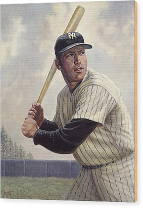 Mickey Mantle Wood Print