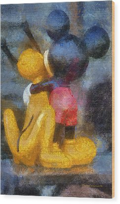 Mickey Mouse Photo Art Wood Print by Thomas Woolworth