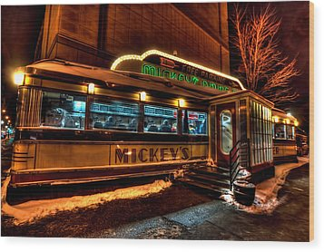 Mickey's Diner St Paul Wood Print