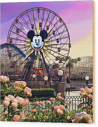 Mickey's Fun Wheel II Wood Print by Doug Kreuger
