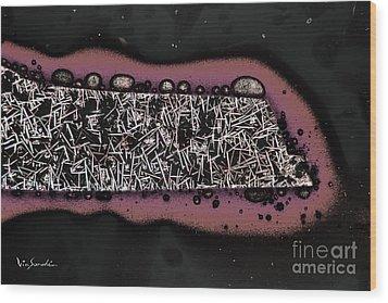Micro Art Coffee City 1 Wood Print by Vin Kitayama