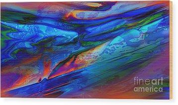 Micro Intensity Of Melancholy Flicker Wood Print by Kyle Wood
