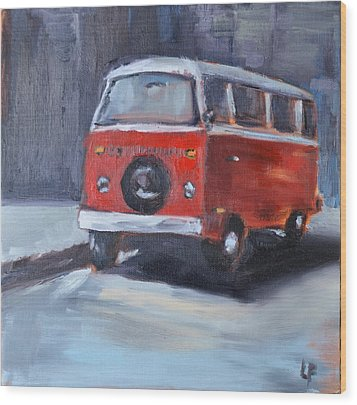 Microbus Wood Print by Lindsay Frost