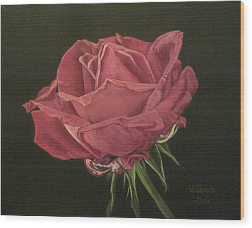Wood Print featuring the painting Mid Bloom by Wendy Shoults