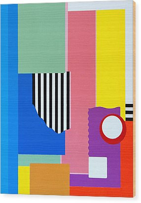 Mid Century Compromise Wood Print by Thomas Gronowski