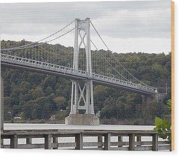 Mid Hudson Bridge Wood Print