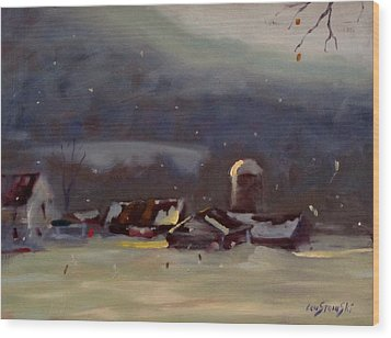 Mid Winter Wood Print by Len Stomski