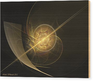 Wood Print featuring the digital art Midas Astral by Linda Whiteside