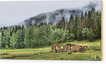 Midday Mist Wood Print by Lena Sandoval-Stockley