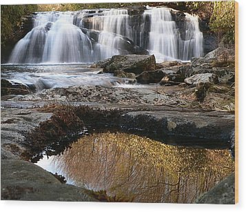 Wood Print featuring the photograph Middle Falls On Big Snowbird Creek by Doug McPherson