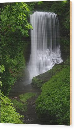 Middle North Falls Wood Print by Ken Dietz