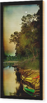 Middle Suwannee Pano Wood Print by Linda Olsen