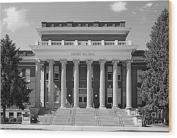 Middle Tennessee State Kirksey Old Main Wood Print by University Icons
