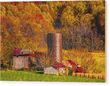 Middleburg Silo And Outbuildings Wood Print