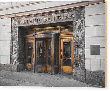 Midland Building Wood Print