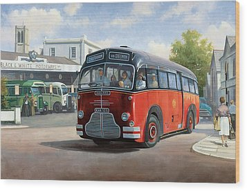 Midland Red C1 Coach. Wood Print by Mike  Jeffries