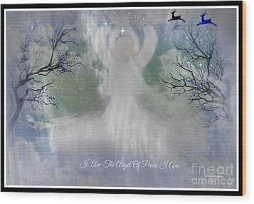 Midnight Angel Of Peace Wood Print by Sherri's Of Palm Springs