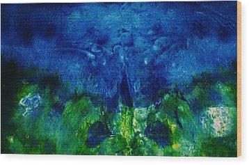 Midnight Angel Wood Print